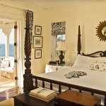 Luxurious master suite with seperate sitting room and Caribbean sea views