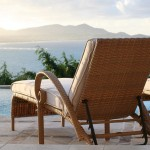 Chaises overlook Mango Hill's 40-foot heated pool and the Caribbean Sea beyond